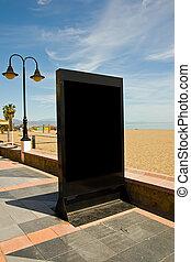 billboard beach - black billboard in a beach