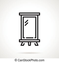 Billboard black line vector icon
