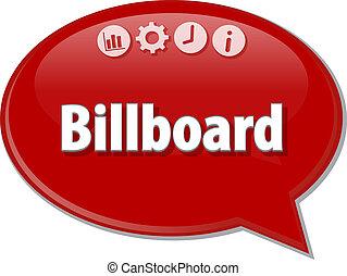 Billboard Business term speech bubble illustration