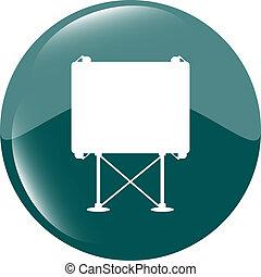 billboard button icon web sign