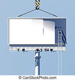 billboard, cartaz, construção