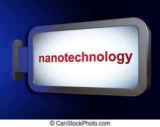 billboard, ciência, nanotechnology, concept:, fundo