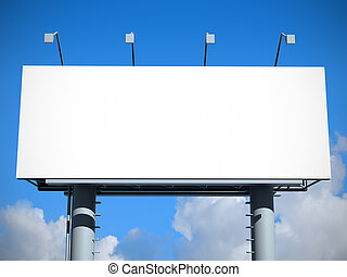 billboard, com, vazio, tela