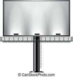 Billboard - detailed illustration of a black advertising...