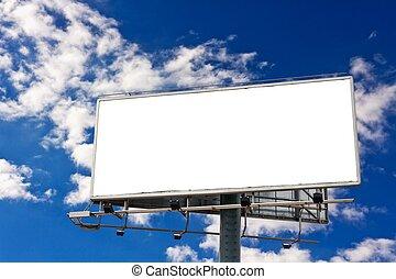 Billboard - Empty billboard in front of beautiful cloudy sky