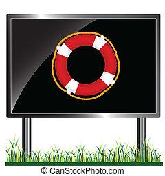 billboard, flutuador, recuperação