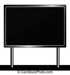 billboard for message vector illustration in black color