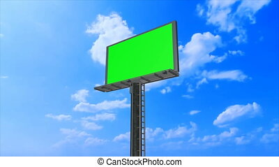 Billboard high in the sky - Advertising billboard high in...