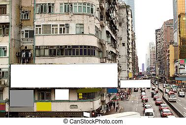Billboard in the city.