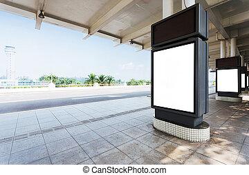 billboard in the station