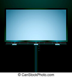 billboard night - Street billboard iluminated at night but...