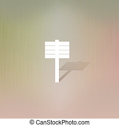 Billboard of paper cut on abstract background