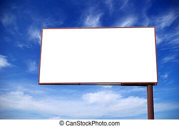 billboard on  sky - advertising billboard on background sky