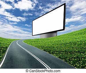 billboard on the road