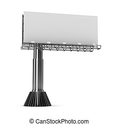 billboard on white background. Isolated 3D image