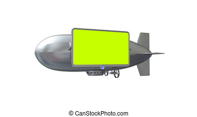 Billboard or video screen on dirigible. Put your video on...
