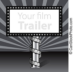 billboard, película, ilustração, faixa