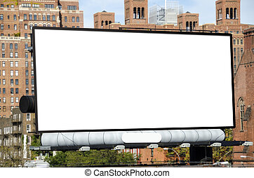 Billboard - A large blank urban billboard with copy space
