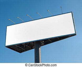 Billboard - Blank billboard over blue sky