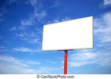 billboard - advertising billboard on sky background