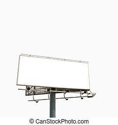 Billboard - Empty billboard isolated over white background