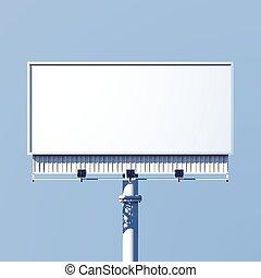 billboard, realístico, ao ar livre