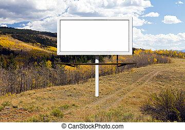 Billboard Sign Along Mountain Dirt Trail
