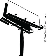 A blank vectorized billboard sign (low angle view)