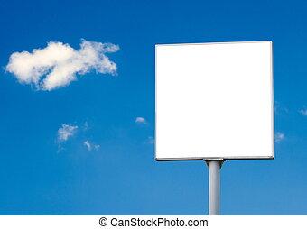 billboard - empty billboard over the sky