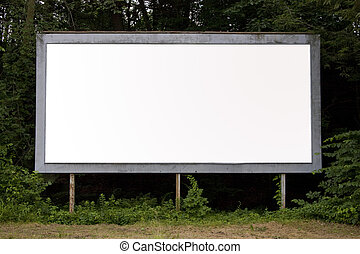 billboard - A blank billboard find in a suburban area with...