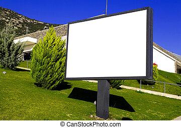 Billboard - Blank bills for outdoor advertising, clipping...