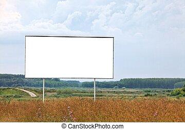 Billboard - Blank billboard on a field