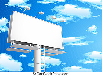 Billboard - Vector illustration of blank billboard.