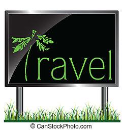 billboard, viagem, vetorial