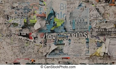 Billboard with old advertisements - Billboard with old...