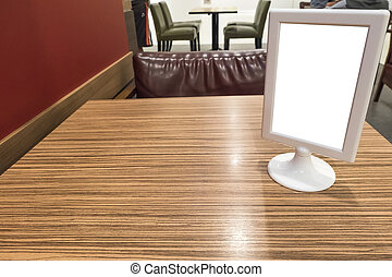 Billboards on the dining table