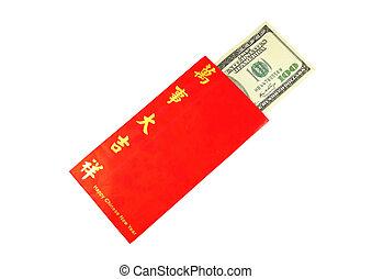 billet banque, argent, dollar, espèces, isolé, fond, ...