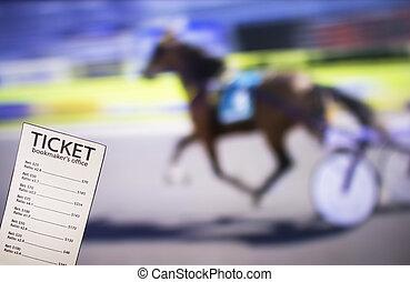 billet, tv, sports, spectacles, trot, sport, fond, bookmaker, parier