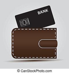 billetera, eps10, tarjeta bancaria