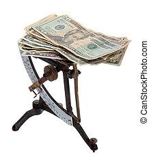 billetes de banco, balance, carta