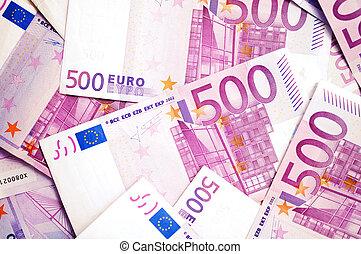 billetes de banco, dinero, 500, euro