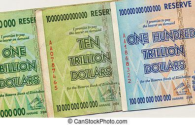 billetes de banco, zimbabwe