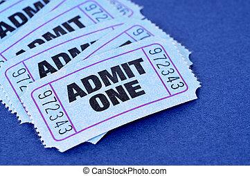 billets, admettre
