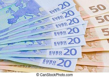 billets banque, 20-euro, 50-euro