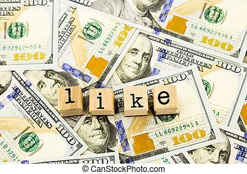 billets banque, argent, dollar, aimer, rédaction