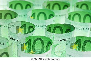 billets banque, argent, fond, euro