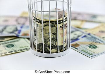 billets banque, barres