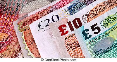 billets banque, -, britannique, anglaise
