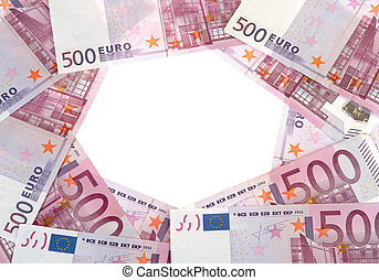 billets banque, cercle, 500, euro
