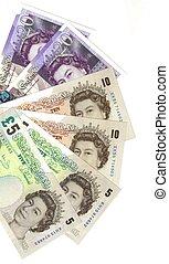 billets banque, détail, anglaise